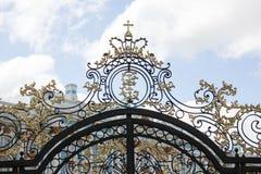 Άγιος-ΠΕΤΡΟΥΠΟΛΗ, ΡΩΣΙΑ - 10 Ιουλίου 2014: Το παλάτι της Catherine, που βρίσκεται στην πόλη Tsarskoye Selo Στοκ Εικόνες