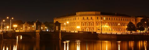 Άγιος Πετρούπολη, ποταμός Fontanka Στοκ εικόνα με δικαίωμα ελεύθερης χρήσης