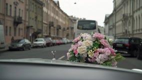 Άγιος-Πετρούπολη, Ρωσία - 17 Αυγούστου 2017: Οδήγηση αυτοκινήτων Rolls-$l*royce απόθεμα βίντεο
