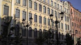 Άγιος-Πετρούπολη, Ρωσία - 18 Αυγούστου 2018: Πρωί στην ευρωπαϊκή πόλη φιλμ μικρού μήκους
