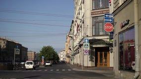Άγιος-Πετρούπολη, Ρωσία - 18 Αυγούστου 2018: Πρωί στην ευρωπαϊκή πόλη απόθεμα βίντεο