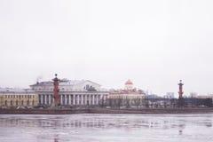 Άγιος Πετρούπολη, ανάχωμα χειμερινών παλατιών Στοκ φωτογραφία με δικαίωμα ελεύθερης χρήσης