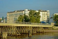Άγιος-Πετρούπολη, 2$α γέφυρα Elagin Στοκ Εικόνες