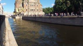 Άγιος-Πετρούπολη. Εκκλησία του Savior στο αίμα. Timelapse απόθεμα βίντεο