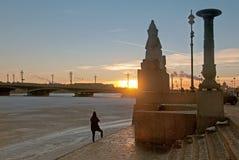 Άγιος-Πετρούπολη Ρωσία Άποψη βραδιού της πόλης Στοκ Φωτογραφία