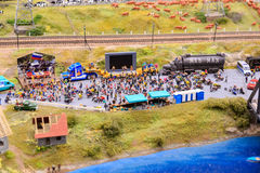 Άγιος Πετρούπολη, Ρωσία - 13 Μαΐου 2017: Τεμάχιο μεγάλο μεγάλο Maket Ρωσία Μεγάλο Maket Ρωσία το παγκόσμιο ` s μεγαλύτερο πρότυπο Στοκ φωτογραφία με δικαίωμα ελεύθερης χρήσης