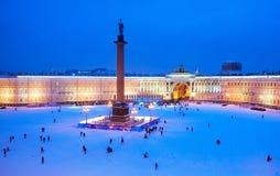 Άγιος-Πετρούπολη Ρωσία Το τετράγωνο παλατιών Στοκ Φωτογραφία