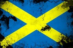 Άγιος Alban Cross σκουριασμένο και grunge απεικόνιση σημαιών απεικόνιση αποθεμάτων