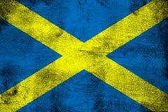 Άγιος Alban Cross σκουριασμένο και grunge απεικόνιση σημαιών ελεύθερη απεικόνιση δικαιώματος