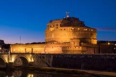 Άγιος Angelo Castle και γέφυρα του ST Angelo στη Ρώμη, Ιταλία Στοκ Εικόνα
