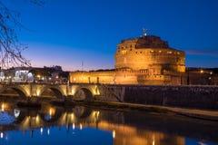 Άγιος Angelo Castle και γέφυρα του ST Angelo στη Ρώμη, Ιταλία Στοκ φωτογραφία με δικαίωμα ελεύθερης χρήσης