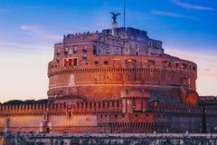 Άγιος Angelo Castle τή νύχτα, Ρώμη, Ιταλία Στοκ Φωτογραφίες