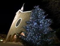 Άγιος Anthony ανασχηματισμένης της η Πάδοβα εκκλησίας στη Βουδαπέστη στο christmastime Στοκ Εικόνες