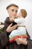Άγιος Anthony του μωρού Ιησούς εκμετάλλευσης της Πάδοβας Στοκ Φωτογραφίες