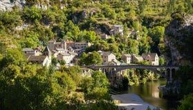 Άγιος Chely du φαράγγια του Tarn, Tarn, Γαλλία Στοκ Φωτογραφία