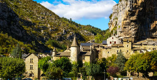 Άγιος Chely du φαράγγια του Tarn, Tarn, Γαλλία στοκ εικόνα