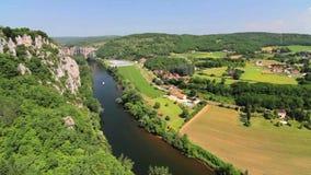 Άγιος-Cirq-Lapopie, νότια Γαλλία απόθεμα βίντεο