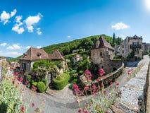 Άγιος Cirq Lapopie στο μέρος, Γαλλία στοκ εικόνες με δικαίωμα ελεύθερης χρήσης