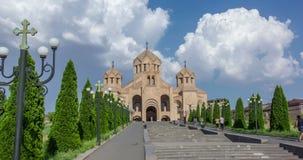 Άγιος Gregory ο καθεδρικός ναός φωτιστικών, Jerevan, Αρμενία, 8-13 Αυγούστου - 2016 απόθεμα βίντεο