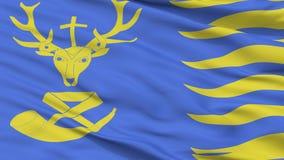 Άγιος Hubert City Flag, Βέλγιο, άποψη κινηματογραφήσεων σε πρώτο πλάνο απεικόνιση αποθεμάτων