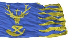 Άγιος Hubert City Flag, Βέλγιο, που απομονώνεται στο άσπρο υπόβαθρο Απεικόνιση αποθεμάτων