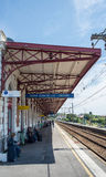 Άγιος Jean de Luz - σταθμός τρένου Ciboure Aquitaine, Γαλλία στοκ εικόνες