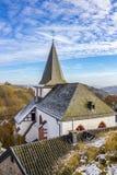Άγιος John η βαπτιστική εκκλησία σε Kronenburg, North Rhine-Westphalia, Γερμανία στοκ εικόνες με δικαίωμα ελεύθερης χρήσης