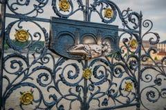 Άγιος John Nepomuk στη γέφυρα Charles στην Πράγα Στοκ Εικόνα