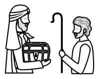 Άγιος Joseph με το σοφό χαρακτήρα βασιλιάδων ελεύθερη απεικόνιση δικαιώματος