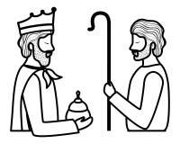 Άγιος Joseph με το σοφό χαρακτήρα βασιλιάδων διανυσματική απεικόνιση