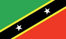 Άγιος-Kitts-Nevis διανυσματική απεικόνιση