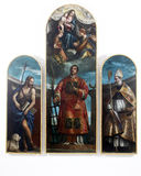 Άγιος Lawrence με τη Virgin, το Χριστό και τους αγγέλους, ST John ο βαπτιστικός και ο Άγιος Βασίλης Στοκ εικόνες με δικαίωμα ελεύθερης χρήσης
