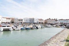 Άγιος Martin EN σχετικά με - Ile de Re Nouvelle Aquitaine/Γαλλία - 05 02 2019: Άποψη του λιμένα σε Άγιο Martin de Re στη Γαλλία στοκ φωτογραφία με δικαίωμα ελεύθερης χρήσης