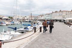 Άγιος Martin EN σχετικά με - Ile de Re Nouvelle Aquitaine/Γαλλία - 05 04 2019 στοκ εικόνες