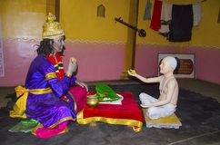Άγιος Namdev που προσφέρει Prasad στο Λόρδο Vithoba Στοκ Εικόνα