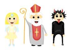 Άγιος Nocholas, άγγελος και διάβολος Στοκ εικόνα με δικαίωμα ελεύθερης χρήσης