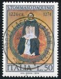 Άγιος Thomas Aquinas από το Francesco Traini Στοκ Εικόνες