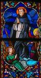 Άγιος Thomas Aquinas - λεκιασμένο γυαλί Στοκ εικόνες με δικαίωμα ελεύθερης χρήσης