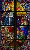 Άγιος Thomas Aquinas - λεκιασμένο γυαλί Στοκ Εικόνα