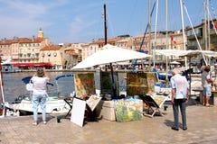 Άγιος-Tropez ζωγράφος γαλλικό Riviera Στοκ Φωτογραφία
