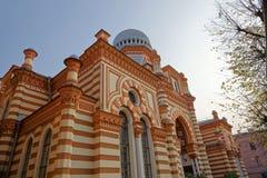 ΆΓΙΟΣ-ΠΕΤΡΟΥΠΟΛΗ, ΡΩΣΙΑ - 17 ΟΚΤΩΒΡΊΟΥ 2017: Μεγάλη χορωδιακή συναγωγή της Αγία Πετρούπολης, Ρωσία Στοκ φωτογραφίες με δικαίωμα ελεύθερης χρήσης