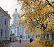 ΆΓΙΟΣ-ΠΕΤΡΟΥΠΟΛΗ, ΡΩΣΙΑ - 17 ΟΚΤΩΒΡΊΟΥ 2017: Ναυτικός καθεδρικός ναός του Άγιου Βασίλη της Αγία Πετρούπολης, Ρωσία Στοκ εικόνες με δικαίωμα ελεύθερης χρήσης