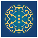 Άγκυρες στο μπλε υπόβαθρο Στοκ Εικόνες