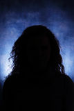 Άγνωστη θηλυκή σκιαγραφία Στοκ Φωτογραφία