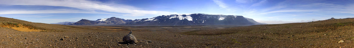άγονο ισλανδικό τοπίο στοκ εικόνες