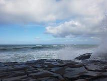 Άγρια άγρια κύματα δυτικού άσπρα πλυσίματος Στοκ Εικόνες