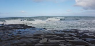 Άγρια άγρια κύματα δυτικού άσπρα πλυσίματος Στοκ εικόνες με δικαίωμα ελεύθερης χρήσης