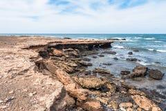 Άγρια ακτή νησιών Boavista στο Πράσινο Ακρωτήριο - Cabo Verde στοκ εικόνες