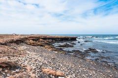 Άγρια ακτή νησιών Boavista στο Πράσινο Ακρωτήριο - Cabo Verde Στοκ Εικόνα