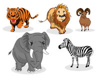 Άγρια ζώα καθορισμένα διανυσματική απεικόνιση